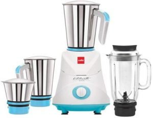 Cello GNM_Elite 500-Watt Mixer Grinder with 3 Stainless Steel Jar and 1 Juicer Jar