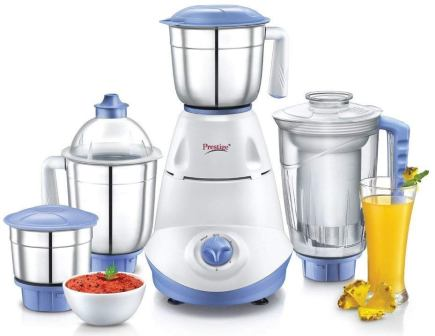 Best Mixer Grinder under 3000, Prestige Iris (750 Watt) Mixer Grinder with 3 Stainless Steel Jar + 1 Juicer Jar