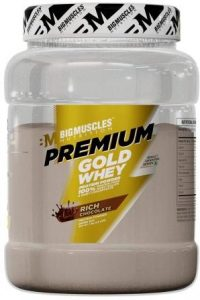 Bigmuscles Nutrition Premium Gold Whey 1Kg[Rich Chocolate], Whey Protein Isolate & Whey Protein Concentrate